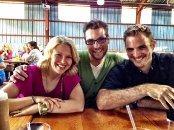 jen with adam and andrew at an sfvs happy hour