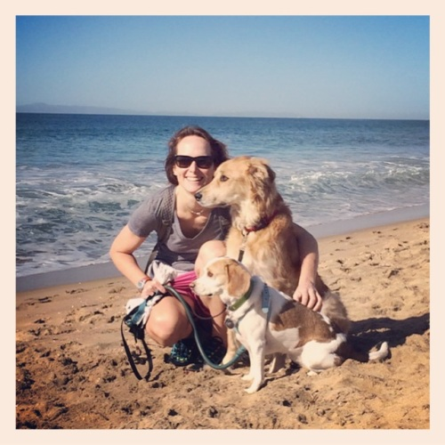 dr. laura wilson with her pooches, bailey and talulah